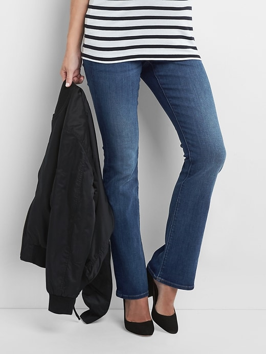 Maternity full panel baby boot jeans