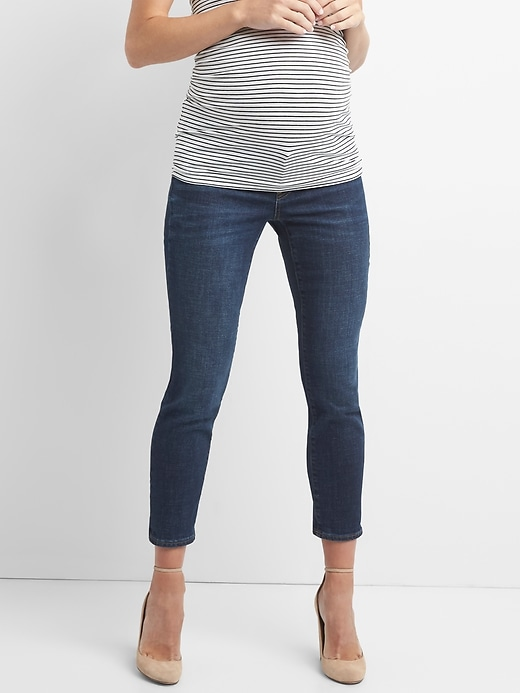 Maternity Inset Panel Girlfriend Jeans