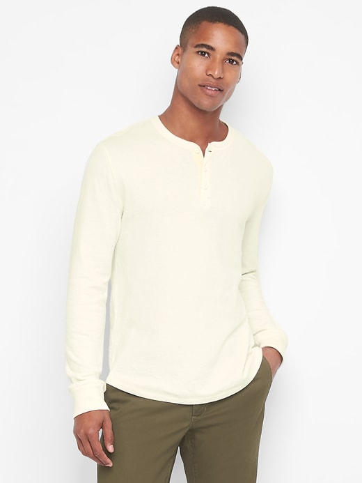 Gap Mens Heavyweight Henley Shirt