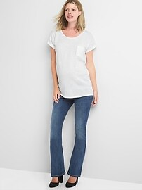 Maternity demi panel baby boot jeans