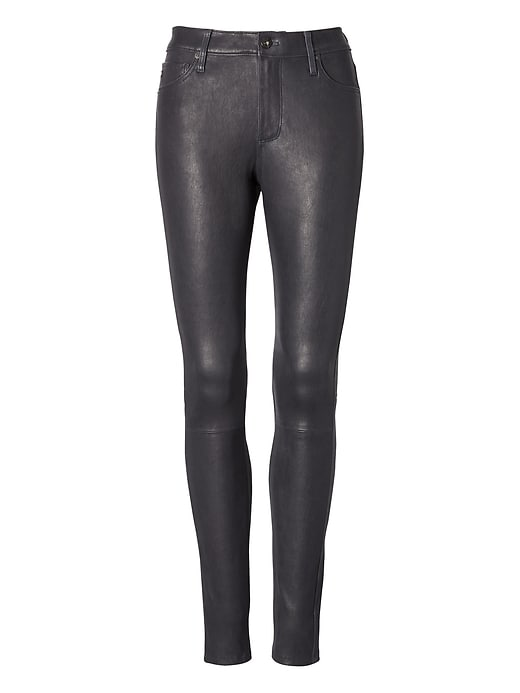 AG Jeans &#124 Leather Farrah Hi-Rise Skinny Jean
