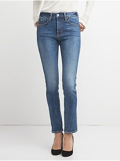 322ad9795b17 High Rise Slim Straight Jeans