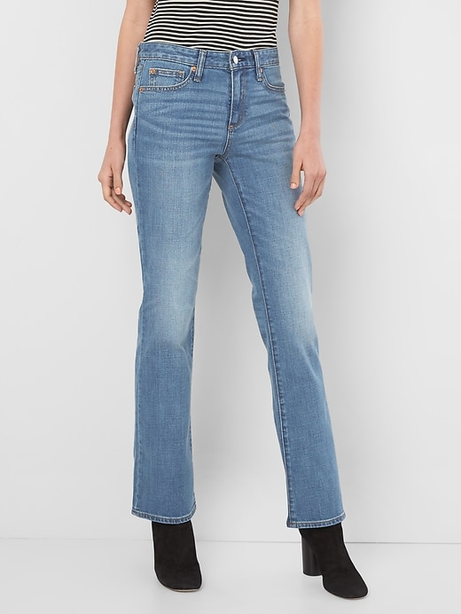 Gap Womens Mid-Rise Perfect Boot Jeans