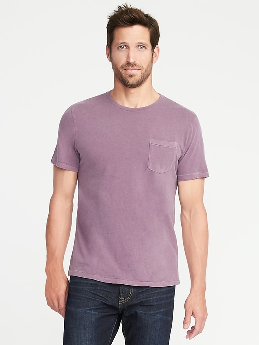 Garment-Dyed Pocket Tee for Men