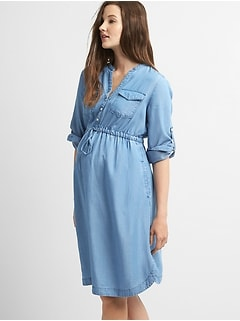 0fb4104ea1834 Maternity Shirtdress in TENCEL™