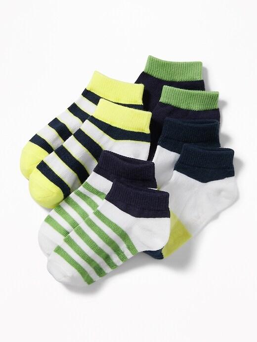 Chaussettes à la cheville pour tout-petit garçon et bébé (paquet de 4)