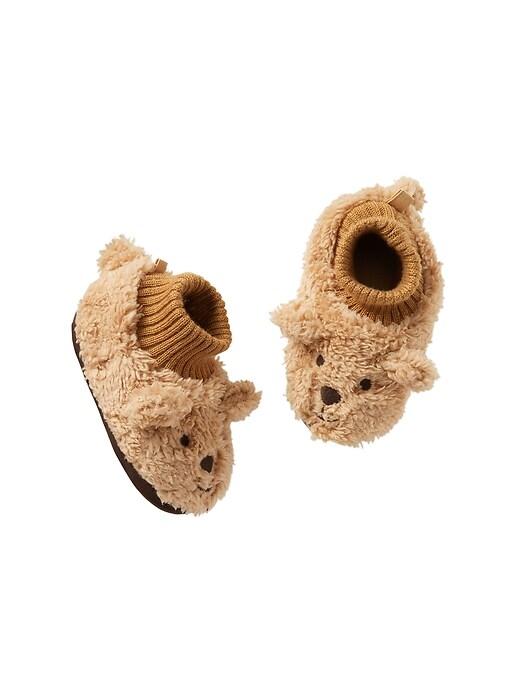 Cozy bear slippers