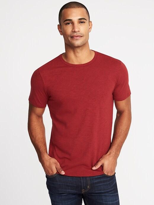 T-shirt au fini soyeux, coupe parfaite pour homme