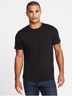 1094990a Soft-Washed Crew-Neck Tee for Men
