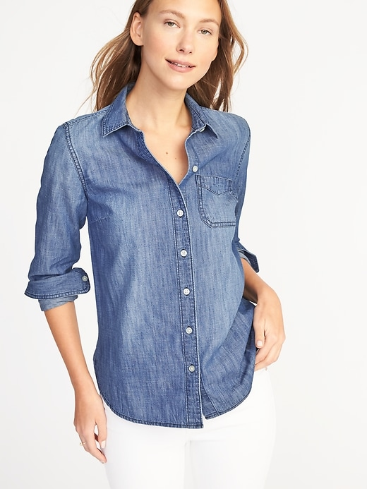 Classic Chambray Shirt for Women