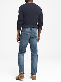 Straight Rapid Movement Denim Light Wash Jean