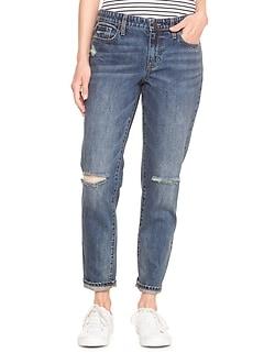 c7ba1a643004 Mid Rise Destructed Sexy Boyfriend Fit Jeans
