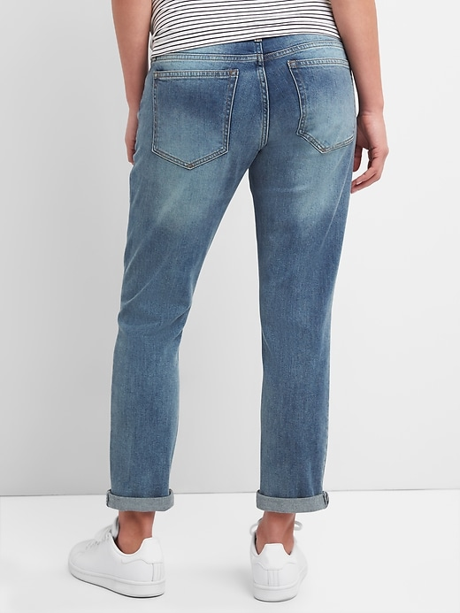 Maternity Full Panel Repaired Girlfriend Jeans