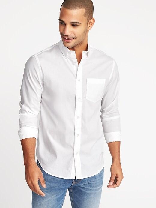 Regular-Fit Clean-Slate Built-In Flex Everyday Shirt for Men