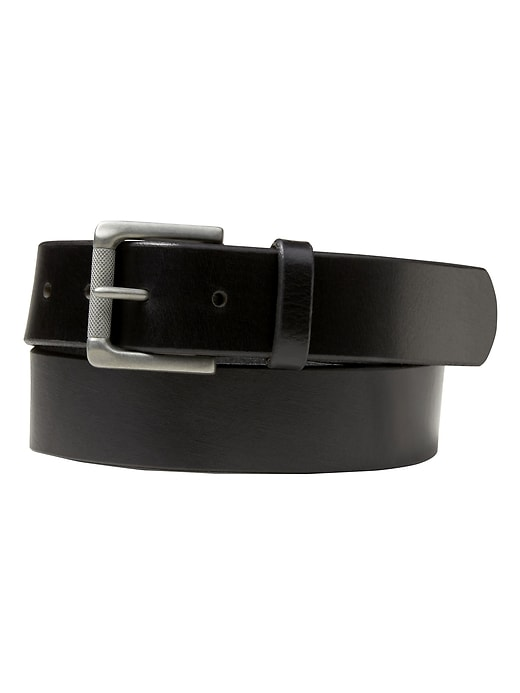 Leather Roller-Buckle Casual Belt