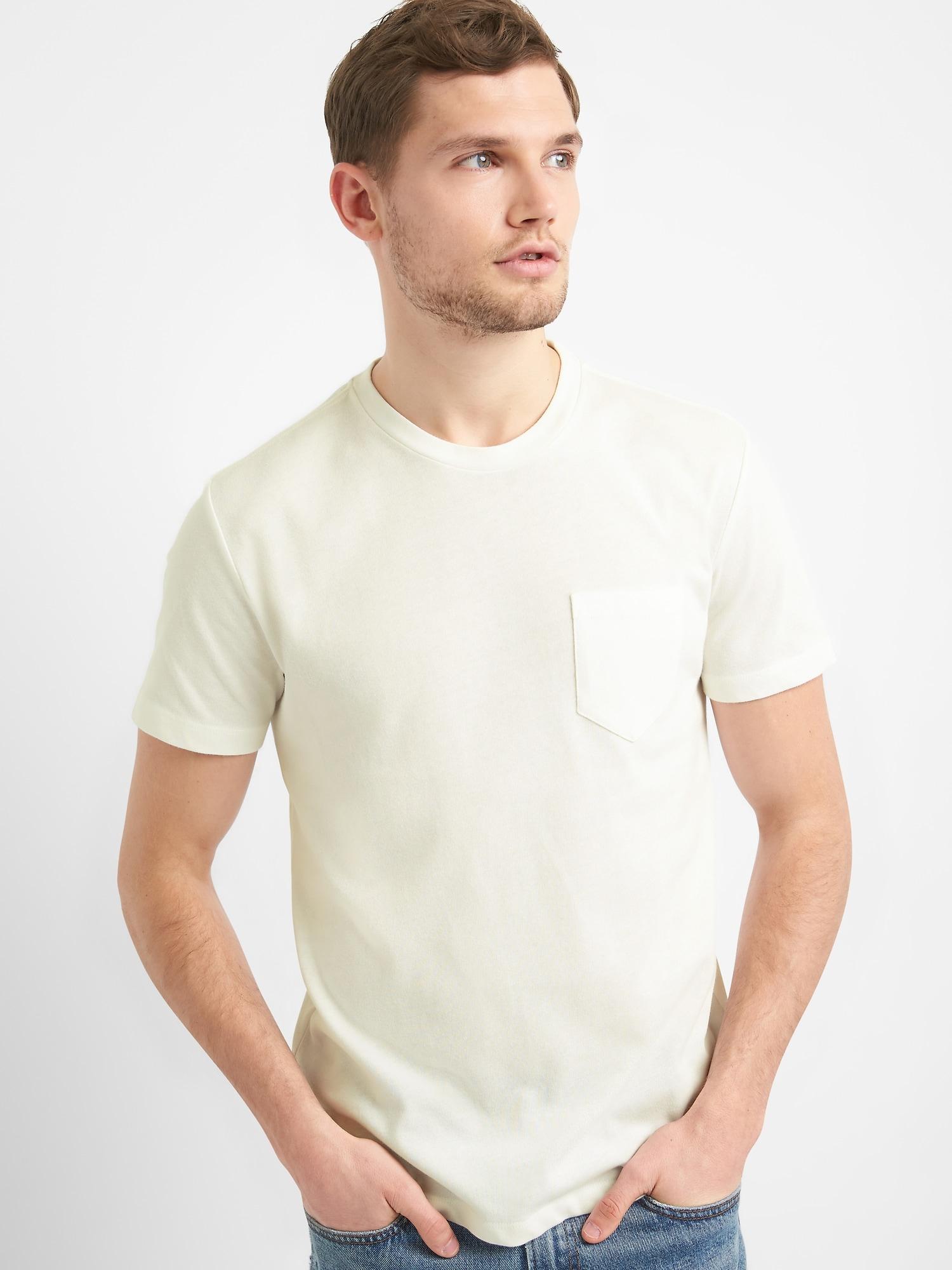 厚手半袖ポケットtシャツ