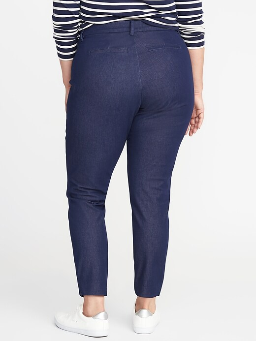 Mid-Rise Secret-Slim Pockets Plus-Size Pixie Pants