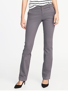 1f3762240 Mid-Rise Boot-Cut Khakis for Women