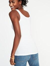 Débardeur de base cintrée en tricot côtelé pour femme