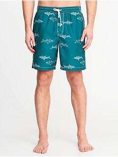 656f0e58d026 Printed Swim Trunks for Men - 8-inch inseam