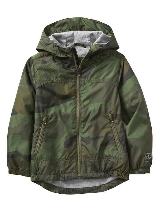 Kids Jersey-Lined Camo Windbuster