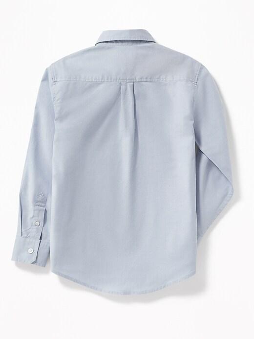 Lightweight Built-In Flex Oxford Uniform Shirt for Boys