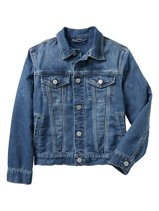 Kids Knit Denim Jacket