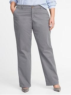 d7beab7ea9f Secret-Slim Pockets Plus-Size Everyday Boot-Cut Khakis
