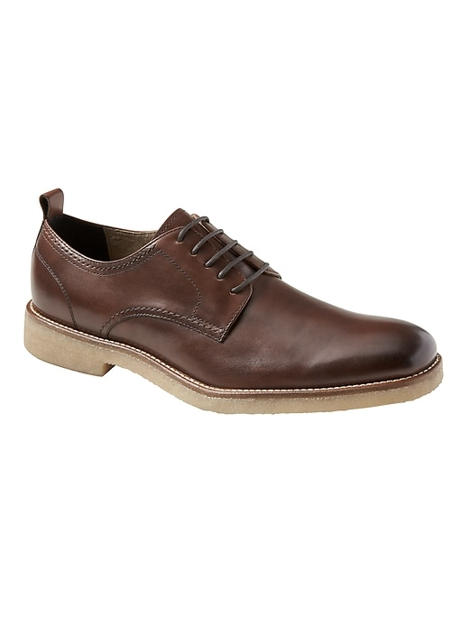 Dewitt Leather Crepe-Sole Oxford