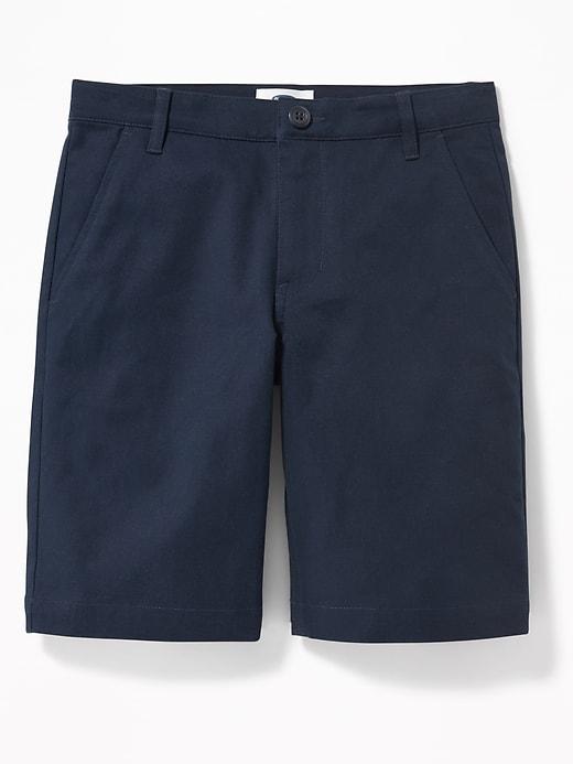 Short d'uniforme droit en sergé Built-In Flex pour garçon