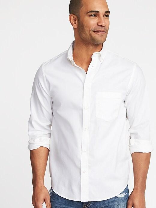 Regular-Fit Clean-Slate Built-In Flex Everyday Oxford Shirt for Men
