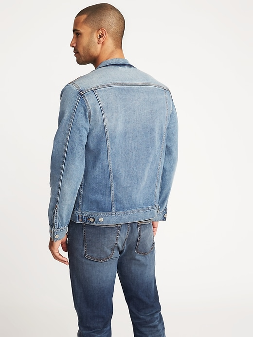 Built-In Flex Denim Jean  Jacket For Men