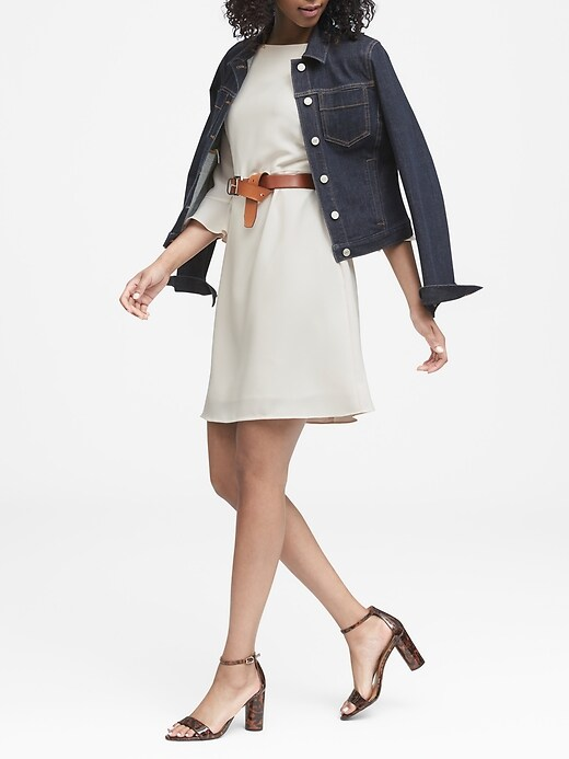 Petite Flutter-Sleeve Mini Dress