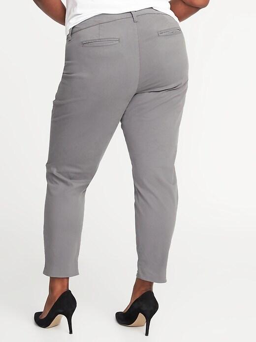 Chino Pixie à poches minceur à taille mi-haute, taille Plus