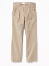 Uniform Built-In Flex Pleated Straight Khakis for Boys