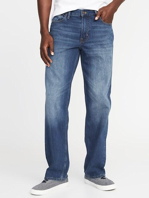Loose Rigid Jeans For Men