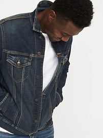 Built-In Flex Jean Jacket For Men