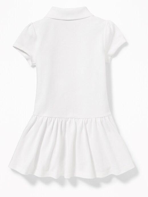 Pique Uniform Polo Dress for Toddler Girls