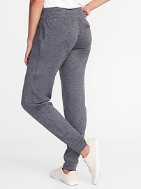 Mid-Rise Sweater-Knit Joggers for Women