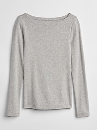 Modern Long Sleeve Boatneck T-Shirt