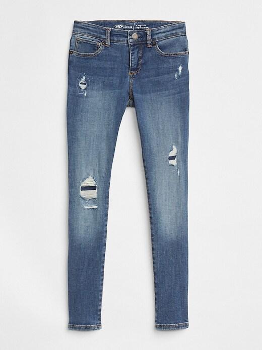 Kids Destruction Super Skinny Jeans with Stretch