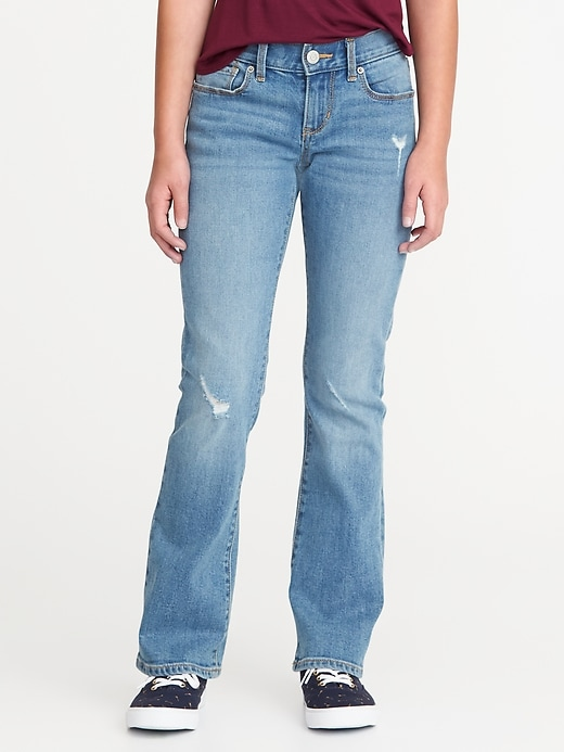 Distressed Boot-Cut Jeans for Girls