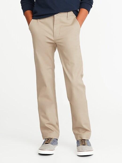 Uniform Built-In Flex Stain-Resistant Skinny Khakis for Boys