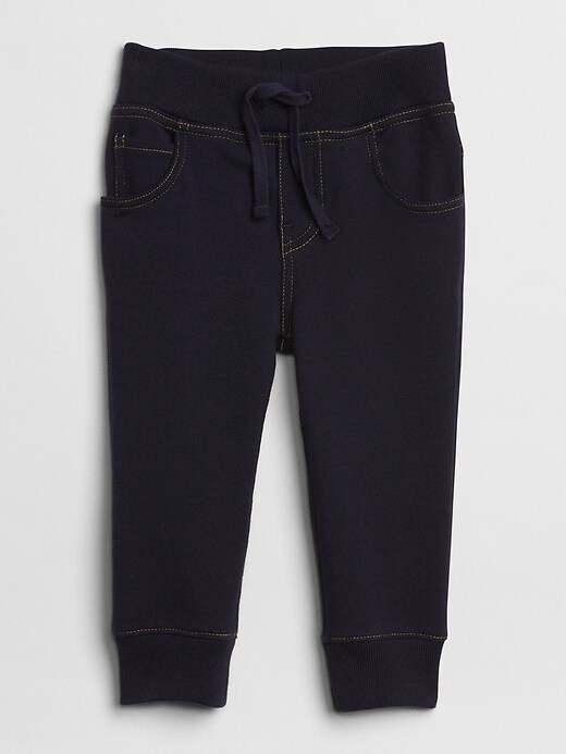 Baby Denim Joggers In Supersoft