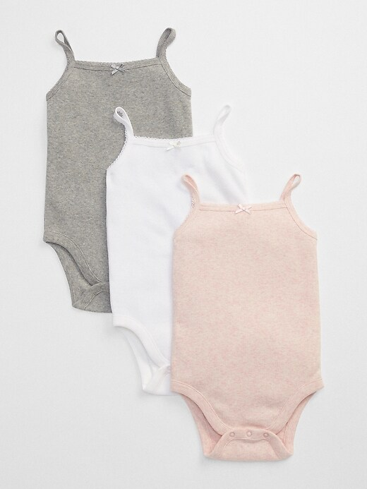 Baby First Favorite Picot Trim Bodysuit (3-Pack)