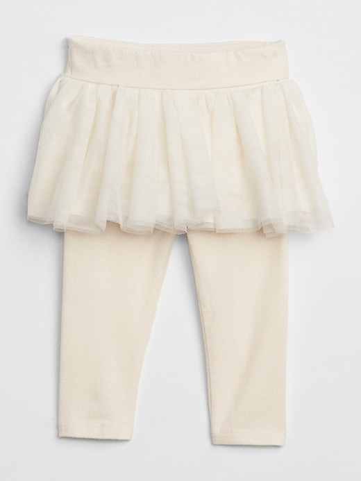 Baby Leggings With Tulle Skirt Trim