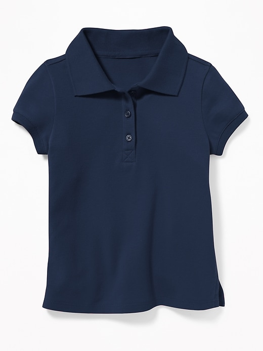 Pique Uniform Polo for Toddler Girls