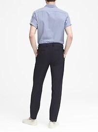 Slim Motion-Stretch Cotton Suit Pant