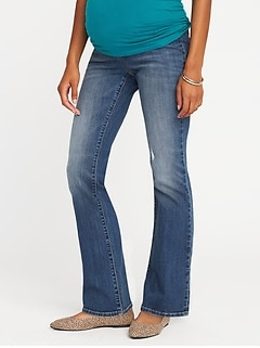 c57b6cd99c8c3 Maternity Side-Panel Boot-Cut Jeans
