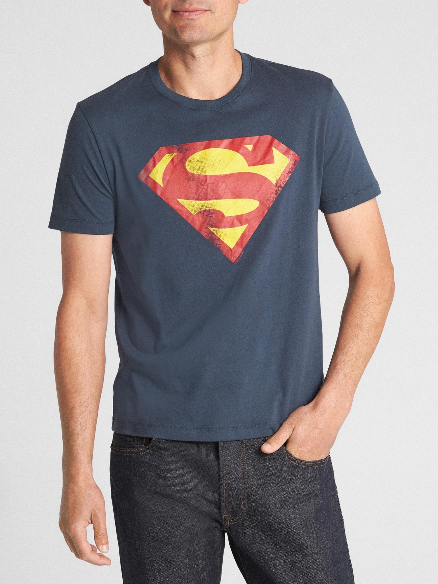 Big Boys Blue, S Superman Graphic-Print T-Shirt
